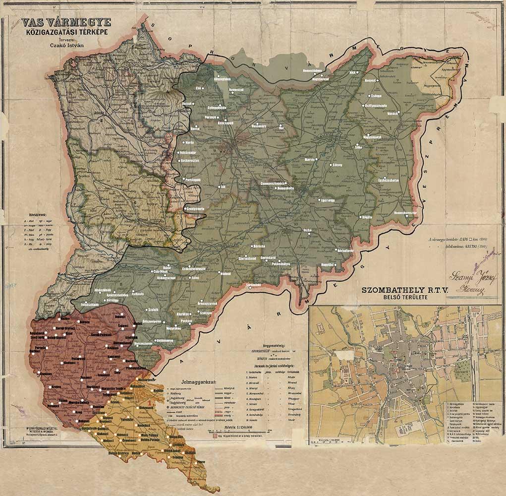 Ozemeljske spremembe Železne županije v 20. stoletju